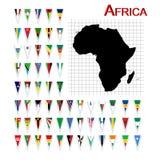 Bandierine dell'Africa Immagini Stock