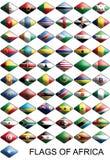 Bandierine dell'Africa, paesi, nazioni, colori Fotografie Stock