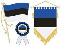 Bandierine dell'Estonia illustrazione vettoriale