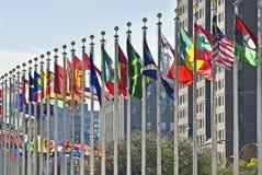 Bandierine dell'ONU Immagini Stock Libere da Diritti
