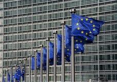 Bandierine dell'Ue Fotografia Stock Libera da Diritti