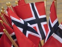 Bandierine della Norvegia Immagine Stock