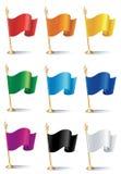 Bandierine di colore Fotografie Stock