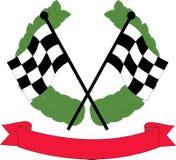Bandierine di corsa di automobile Immagini Stock