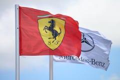 Bandierine di Formula 1 fotografia stock libera da diritti