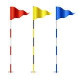 Bandierine di golf illustrazione di stock