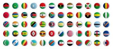Bandierine di paese dell'Africa illustrazione vettoriale