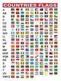 Bandierine di paesi Fotografie Stock Libere da Diritti