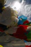 Bandierine di preghiera Immagini Stock Libere da Diritti