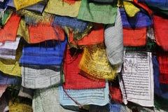 Bandierine di preghiera Fotografia Stock Libera da Diritti