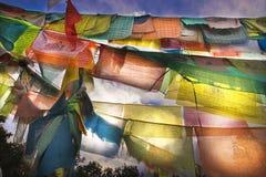 bandierine di preghiera Fotografie Stock Libere da Diritti