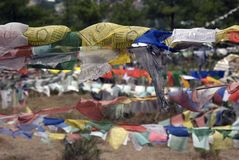 Bandierine di preghiera, Thimphu, Bhutan Immagini Stock