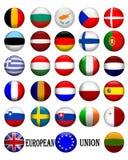 Bandierine di Unione Europea 3D Fotografia Stock Libera da Diritti