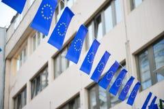 Bandierine di Unione Europea Fotografie Stock Libere da Diritti