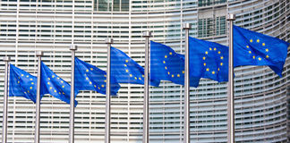 Bandierine europee Fotografia Stock Libera da Diritti