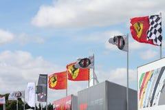Bandierine F1 Fotografia Stock Libera da Diritti
