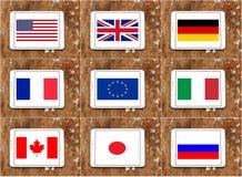 Bandierine G8 illustrazione vettoriale
