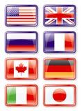 Bandierine G8 illustrazione di stock