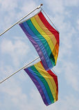 Bandierine gaie di orgoglio fotografie stock libere da diritti