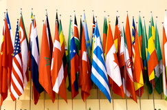 Bandierine internazionali immagini stock libere da diritti