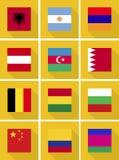 Bandierine internazionali Immagine Stock