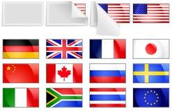 Bandierine internazionali di trasferimento Immagine Stock