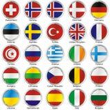 Bandierine internazionali isolate Immagine Stock