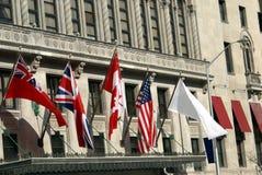 bandierine la bandiera del Regno Unito, del Canada, & di U.S.A. Immagini Stock