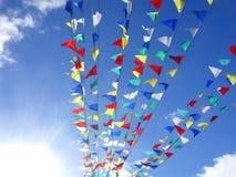 Bandierine multicolori Fotografie Stock