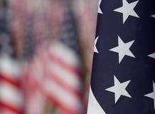 Bandierine nei campi curativi per 9/11 Immagine Stock