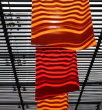 Bandierine rosse ed arancioni Fotografia Stock