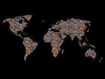 bandierine sopra il mondo Fotografia Stock Libera da Diritti