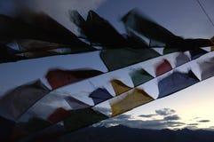 Bandierine tibetane fotografie stock libere da diritti