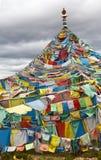 Bandierine tibetane di preghiera Immagini Stock