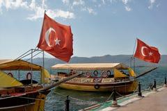 Bandierine turche Immagini Stock
