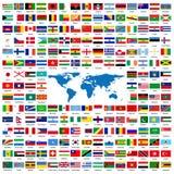 Bandierine ufficiali del mondo Immagine Stock