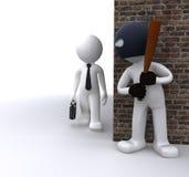 Bandiet die een zakenman rooft Stock Illustratie