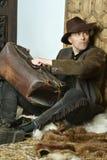Bandiet met kanon Royalty-vrije Stock Foto