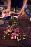 Banding flowers Stock Image