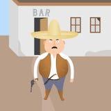 Bandit armé illustration libre de droits
