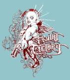 Bandit armé d'usine de T-shirt illustration de vecteur