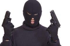 Bandit avec des canons Images libres de droits