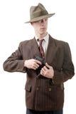 Bandit dans un vintage de costume, avec le pistolet Photos libres de droits