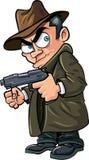 Bandit de bande dessinée avec une arme à feu et un chapeau Photo stock