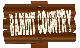Bandit en bois Country Sign Illustration Libre de Droits