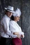 Bandit et la dame dans un moment romantique Images libres de droits