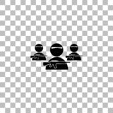 Bandit group icon flat stock illustration