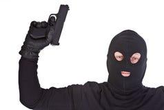 Bandit with gun Stock Image