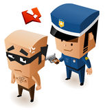 Bandit just got cought. Vector Illustration Royalty Free Stock Images