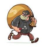 Bandit mit Jimmy tragen Sackgeldvektor Lizenzfreie Stockfotografie